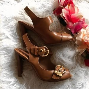 😍ALL LEATHER😍 BCBGMaxAzria heels